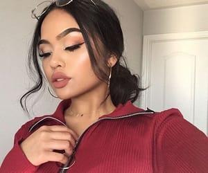 makeup, beauty, and glasses image