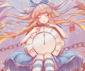 alice in wonderland and anime girl art image