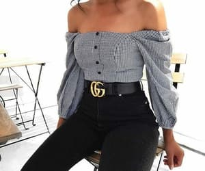 fashion, off shoulders, and love image