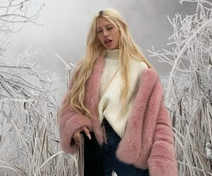 snow, blonde, and girl image