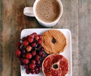 bagel, food, and healthy image