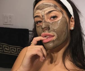 aesthetic, face mask, and baddie image