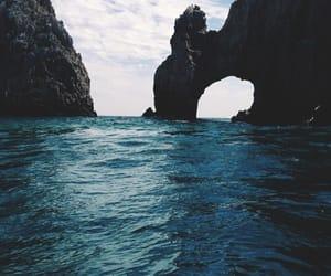 belleza, roca, and mar image
