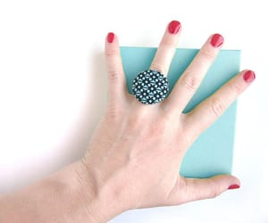 blue ring, style, and summer ring image