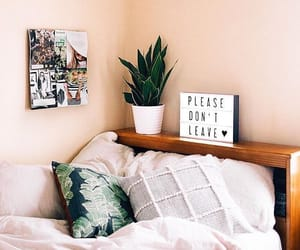 bedroom, decor, and nature image
