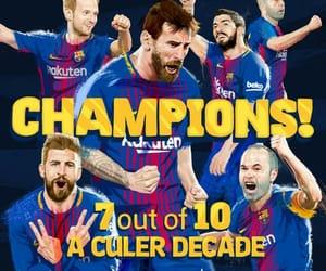 football, fc barcelona, and champions image