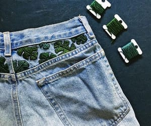 denim, diy, and green image