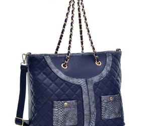 bags, purse, and blue image