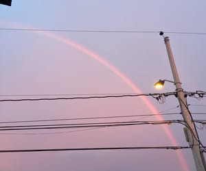 colorful, rainbow, and sky image