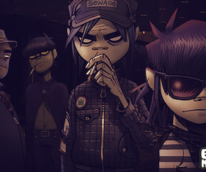 gorillaz, draw, and noodle image
