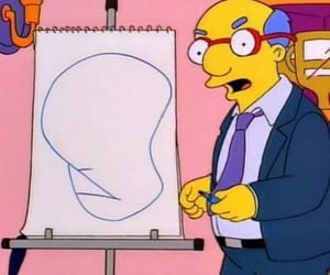 the simpsons and milhouse dad image