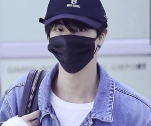 airport, jin, and handsome image