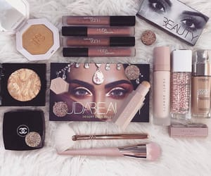makeup, chanel, and huda beauty image