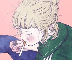aesthetic, drawing, and smoking image