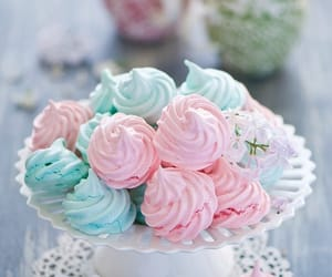 food, pink, and blue image