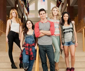 robbie amell, mae whitman, and bianca a. santos image