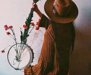 banjo, fashion, and hippie image