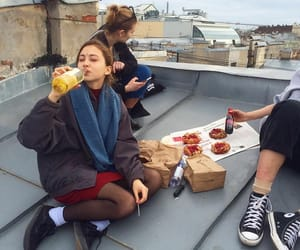 friends, alternative, and food image