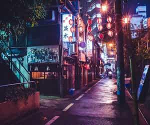 asian, night, and urban image