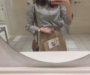 bag, beige, and check image
