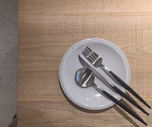 beige, cafe, and cutlery image