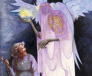 angels, art, and welcome to night vale image