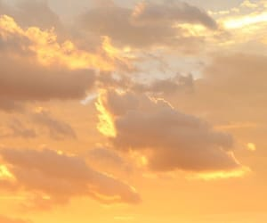sky, yellow, and sunset image