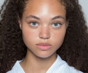 curls, curly hair, and freckles image