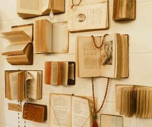 book, vintage, and wall image