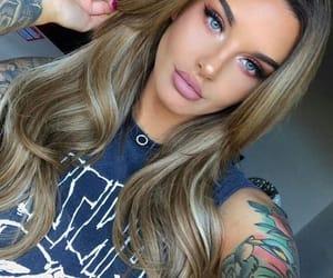 girl, long hair, and makeup image