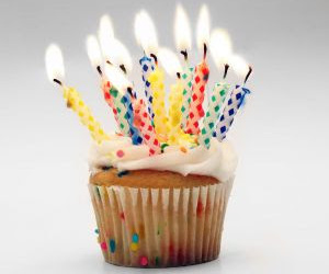 cupcake, candles, and birthday image