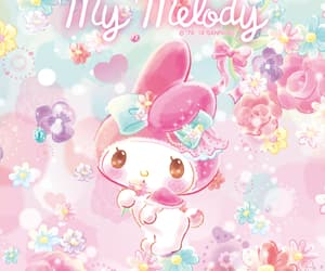 flower, my melody, and wallpaper image