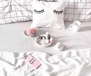 bed, home, and pillow image