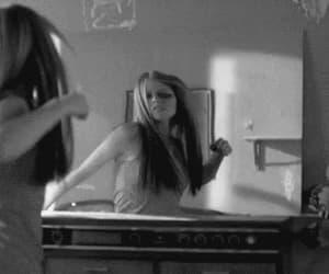 Avril Lavigne, mirror, and gif image