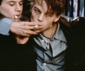 boy, cigarette, and leonardo dicaprio image