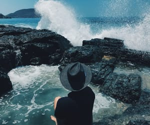 blue, boy, and ocean image