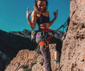 badass, fit, and climbing image