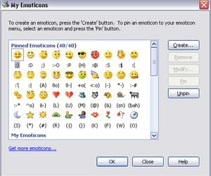 emoticon, msn, and grunge image