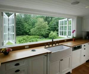 kitchen, window, and home image