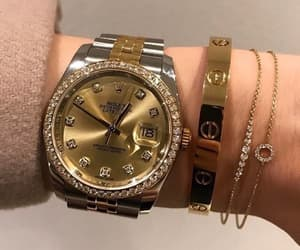 luxury, rolex, and gold image