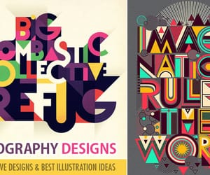 typography design and typography designs image