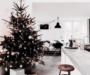 christmas, interior, and tree image