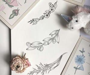 flower, girl, and illustration image