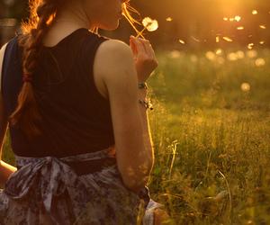 amazing, girl, and sunset image