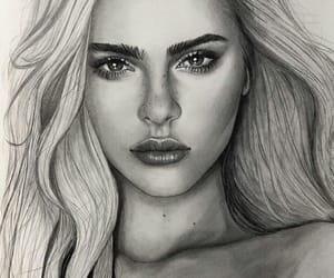 art, beautiful, and model image