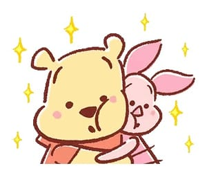 adorable, piglet, and Pooh bear image