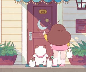 cartoon, gif, and bee and puppycat image