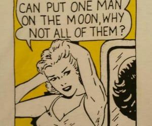 comic, funny, and moon image