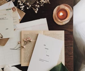 aesthetic, books, and candle image