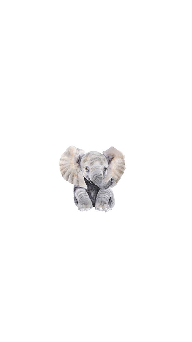 Minimalist Elephant Drawing: Minimalist Elephant Shared By MáriaB On We Heart It